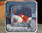 Christmas Card for a Friend - Fox Curled up in the Snow by Gifts & Tree