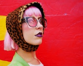 1990s SHUICHI KAMEOKA Leopard Print 60s-style Bonnet Hat - RARE