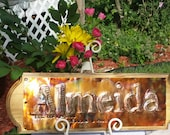 Family Sign, Wedding Sign, Anniversary Sign, Wedding decor, Copper Sign, Custom Sign, Est. date, Home decor, heritage sign, name sign