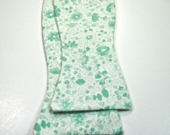 Mint Bow Ties Freestyle Bow Ties Mint Floral Bow Ties Mens Bow Ties, Wedding Bow Ties Custom Bow Ties