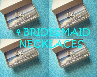 4 STARFISH NECKLACE JEWELRY Gifts, 4 Starfish Jewelry Necklaces, Starfish Necklaces, Beach Wedding Jewelry Gift Ideas, Beach Jewelry