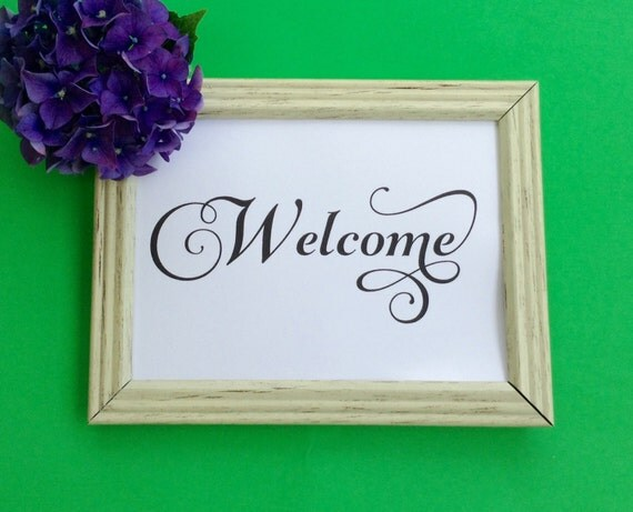 Welcome Sign, Wedding Printable, Wedding Reception