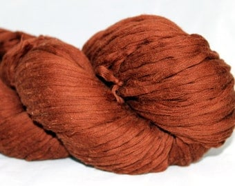 30% off STORE CLOSING SALE Nut Brown Reclaimed Cotton Yarn, Bulky Weight Yarn - 198 Yards