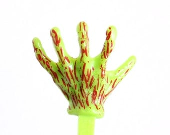 Zombie Hand Cupcake Picks - Monster Cupcake Toppers (12)