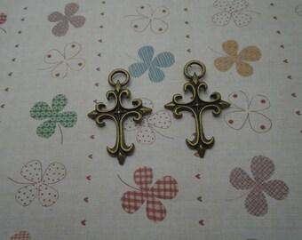 20pcs 48mmx30mm Cross Antique Bronze Retro Pendant Charm For Jewelry Pendant