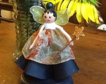 Autumn Fairy peg doll clothespin doll