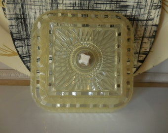 Vintage Clear Plastic Lamp Shade