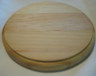 """Natural Wood Circle Plaque 6"""" Diameter x 3/4"""" Thick Unfinished Round Circle"""