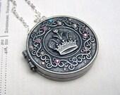 Prayer Box Necklace Fairy Door Locket Little Tiny Wish Box Locket Jewelry Under 25 Gift for Her