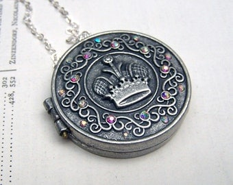 Prayer Box Necklace Fairy Door Locket Little Wish Box Locket Jewelry Under 25 Gift for Her