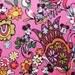 "RARE! Disney Mickey Minnie Mouse Around Pink Main Cotton Fabric BTY x 59"""