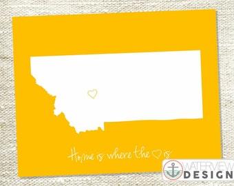 Montana Printable - Home is Where the Heart Is