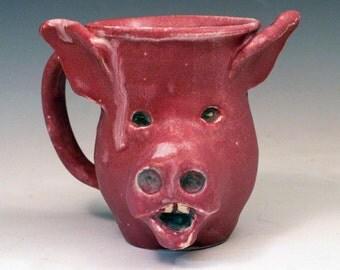 Pig Face Mug: Smiling Pink Perfection