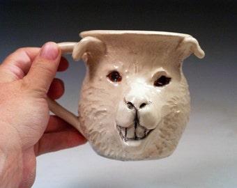 White Sheep Mug - Pulling the Wool