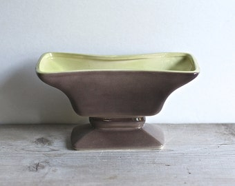 Vintage Royal Windsor Planter Mid Century Taupe Melon Green