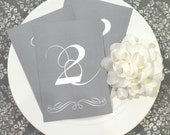 Printable Table Numbers in Gray - Set of 15 - Style TN1 - JULIETTA COLLECTION