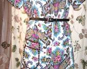 Vintage 60s 70s Models Coat - Dress - Paisley Print - Plus Size - Reserved for Kim P