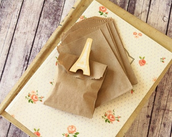 crafty PLAIN Brown Kraft Itty Bitty Bags small paper bags