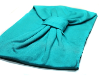 Turquoise Yoga Headband Womens Headband Extra WIde Headband Turquoise Workout Headband Turban Headwrap Turband Headband (#1508) S M