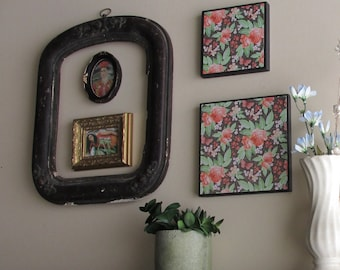Wall decor - Frida - 5 pc vintage  wall art with antique frame