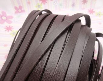 10 meters 10x2mm brown braid genuine leather cord