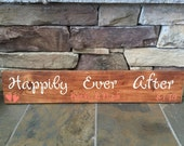 Happily Ever After personalized wedding sign