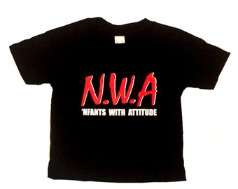 "NWA ""Nfants With Attitudes"" baby tee"
