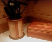 Maine Made Kitchen Countertop Utensil Caddy Hardwood