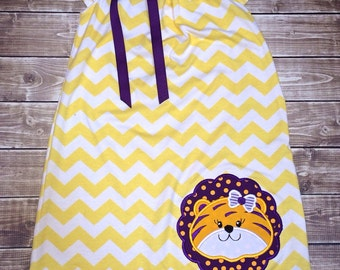 Purple and Gold Tiger Dress