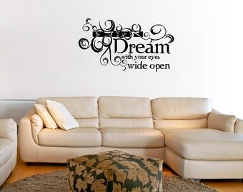 Dream Wall Quote Sayings Words Lettering Removable Dreaming Wall Decal