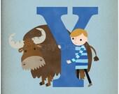 Y is for Yak - Customizable 8x10 Alphabet Art Print