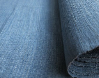 SPRING SALE - IDHF03: Light Tone Indigo Fabric - Plain pattern