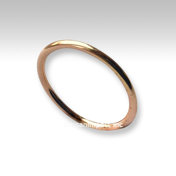 gold wedding ring dainty band gold filled by artisanimpact