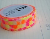 New Autumn 2015 circle triangle square pattern Mt washi tape 15 mm x 10M