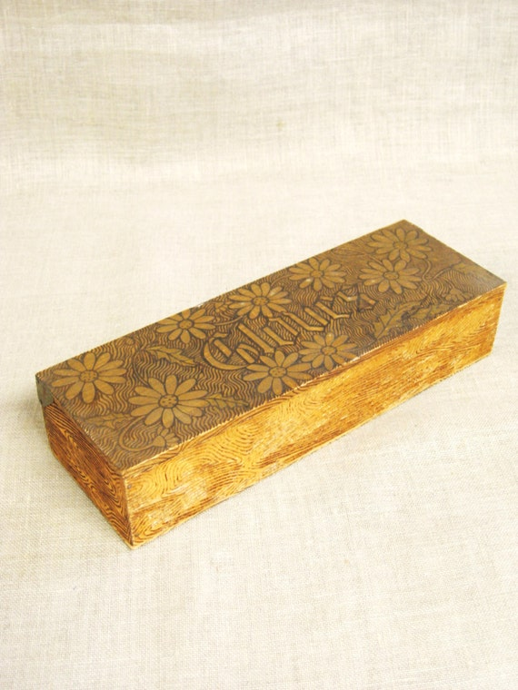 Wooden Glove Box ~ Glove box antique wood storage