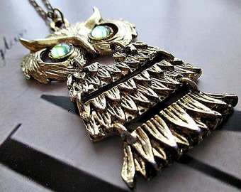 FaBuLouS GoLD OwL NeCKLaCe