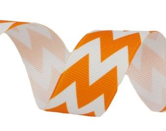 """Riley Blake 7/8"""" Orange Chevron Ribbon"""