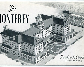 The Monterey Hotel Asbury Park New Jersey postcard