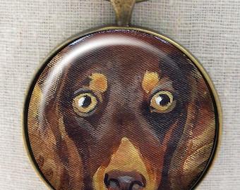 Longhair Chocolate Dachshund Keychain ~ Gifts for Him ~ Teckel Keychain ~  June Birthday ~ Dog Dad Gift