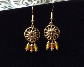 "Goldtone ""Sunshine"" Earrings"