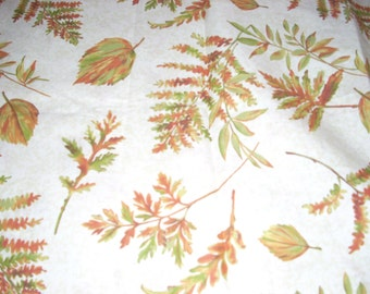 """Fall - Ferns -  Cotton fabric -  43"""" wide - sold by the yard"""