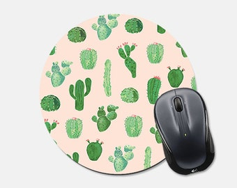 Mouse Pad Mousepad Cactus Mousepad Succulent Mousepad Gift for Coworker Teen Gift Pink Mousepad Pink Mouse Pad Pink Mouse Mat Cco
