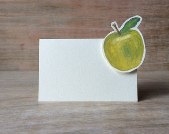 Green Apple Tent - Place Card - Escort Card - Gift Card - Table Number Card - Menu Card -weddings events