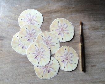 Sand dollar  wedding cards - Escort cards - Place cards, wishing tree, wedding decoration, baby shower, escort cards