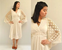 Hippie Wedding Dress   //  Bell Sleeve Dress  //  SEA MIST