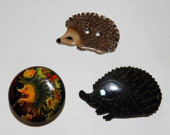 Hedgehog Studio Buttons (3)