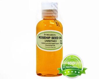 4 Oz Rosehip Oil Unrefined 100% Pure & Organic Cold Pressed