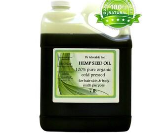 7 Lb Hemp Seed Oil Pure Organic Cold Pressed Gallon