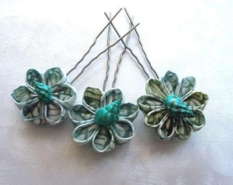 Mountain Lakes Kanzashi Shell Hair Pin Set Amish Pins