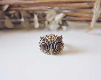 Miss Amber Owl Ring